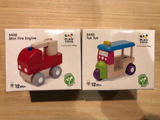働く車シリーズです。子供の手に持ちやすいようにデザインされています。